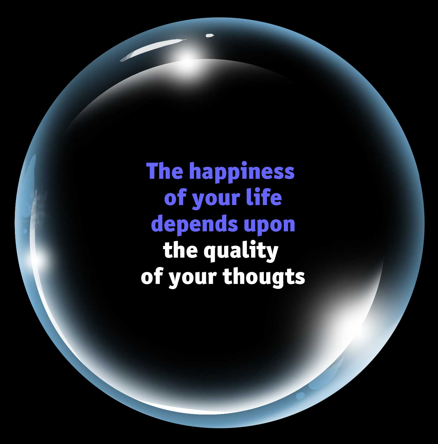 the happiness of your life depends upon the quality of your thoughts - marcus aurelius