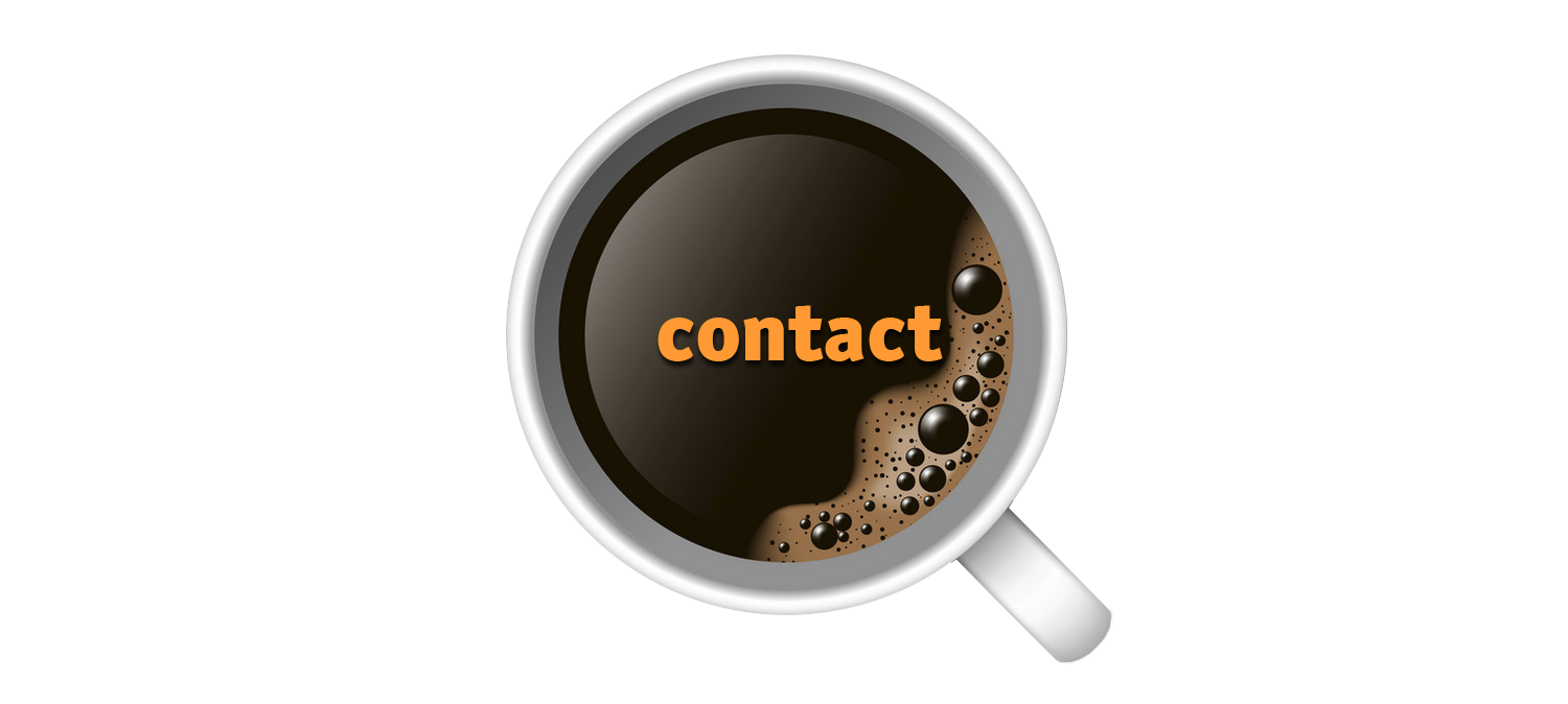 Contact? Meet me with a coffee on an inspiring place!